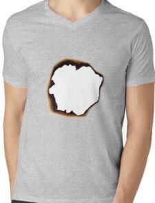 Burnt Hole Mens V-Neck T-Shirt