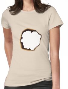 Burnt Hole Womens Fitted T-Shirt