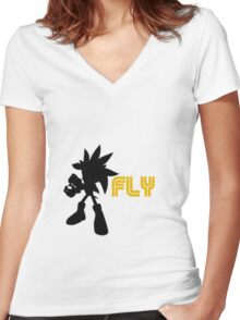 Fly Type: Silver Women's Fitted V-Neck T-Shirt