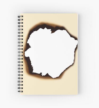 Burnt Hole Spiral Notebook