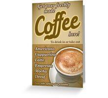 Retro Coffee Poster Greeting Card