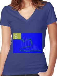this is titled 'the path' Women's Fitted V-Neck T-Shirt
