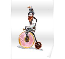 A Mad Tea Drinking Unicyclist  Poster