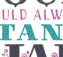 """Emily Dickinson: """"The soul should always stand ajar"""" Sticker"""