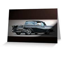 1957 Chevrolet Convertible Greeting Card