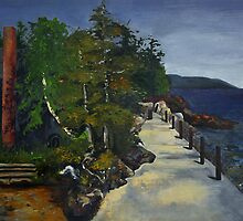 Lake Superior Fish Creek Pier by Polly Greathouse
