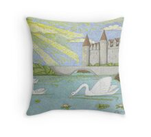 Swans Song Throw Pillow