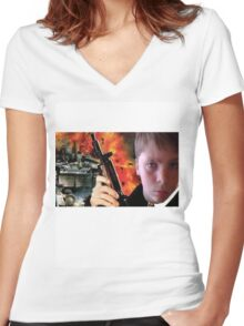 George Bond! Women's Fitted V-Neck T-Shirt