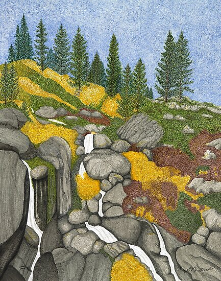 Tahoe Echo Falls by Judy Newcomb
