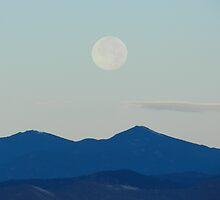 Moon Set on 11/11/11 by Marijane  Moyer