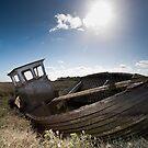 Abandoned Boat - Thornham by Jon Bradbury