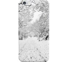 Footprints in the Snow iPhone Case/Skin