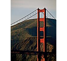 Fall Light On The Golden Gate Photographic Print