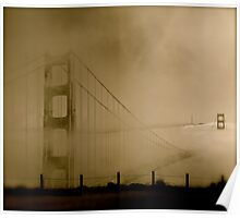 Suspended In Time - Golden Gate Bridge Poster