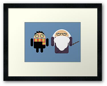 Harry Pottroid and Dumbledroid print by Karen  Hallion