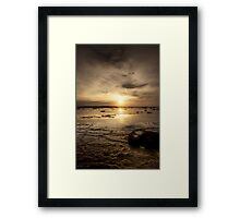 Sun on the Reef Framed Print