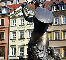 Mermaid statue in Warsaw. by FER737NG