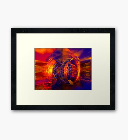 Sunset Behind the Mirrors Framed Print