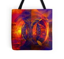 Sunset Behind the Mirrors Tote Bag