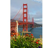 Golden Gate in Bloom Photographic Print