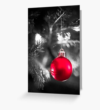 The Red Bauble Greeting Card