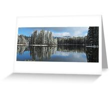 Serene Lake Panorama looking towards Castle Peak Greeting Card