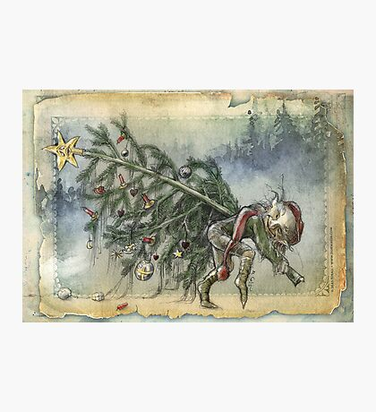 Stealing Christmas Photographic Print