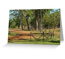 Chain Link Fence Greeting Card