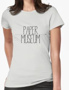 Paper Museum Logo Womens Fitted T-Shirt