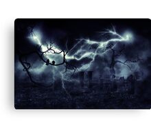 Storm over Field 2 Canvas Print