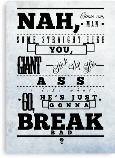 Breaking Bad - Typographic poster by Bratwurst !