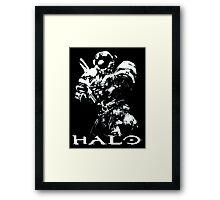 White Halo Framed Print