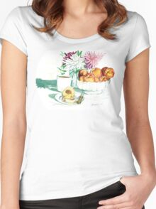 Still Life - Peaches Women's Fitted Scoop T-Shirt