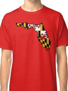 Florida outline Maryland flag Classic T-Shirt