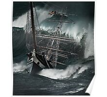 the polly woodside foundering in wild seas Poster