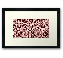 Red and Pink Puff, Antique Pattern Framed Print