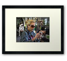 the strangeness of melbourne commuters Framed Print