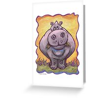 Animal Parade Hippopotamus Greeting Card