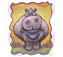 Animal Parade Hippopotamus Poster