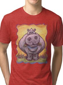 Animal Parade Hippopotamus Tri-blend T-Shirt