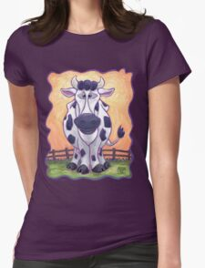 Animal Parade Cow Womens Fitted T-Shirt