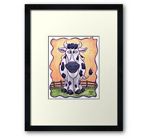 Animal Parade Cow Framed Print