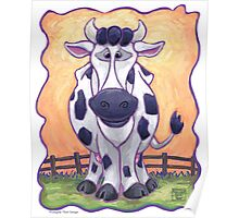 Animal Parade Cow Poster