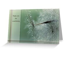 Magical Bokeh Thank You Card Greeting Card