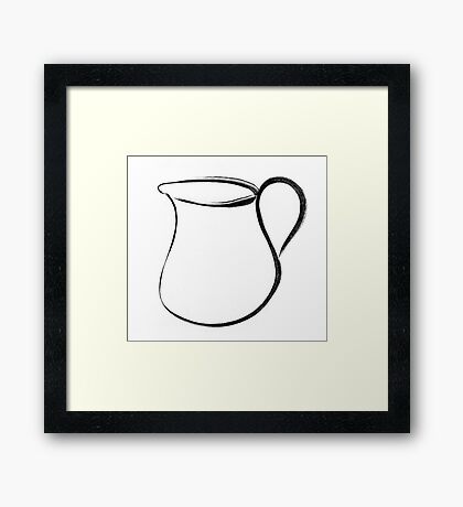 pitcher Framed Print