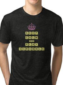 Keep Calm And Play Board Games Tri-blend T-Shirt