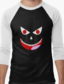 Psychotic Monster Face Men's Baseball ¾ T-Shirt