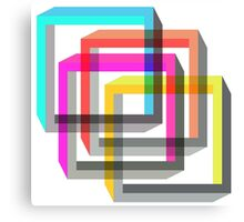 Colorful 3D impossible shapes overlapping Canvas Print