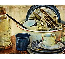 Old Time Cups and Dishes Photographic Print