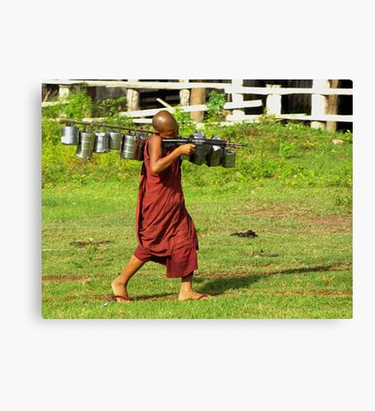 Machine gun monk Canvas Print